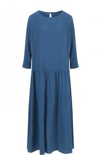 Шелковое платье-миди свободного кроя Victoria Andreyanova