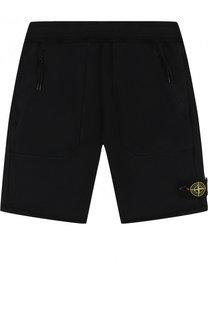 Хлопковые шорты с накладными карманами Stone Island