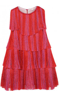 Мини-платье А-силуэта с бахромой Missoni