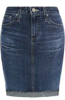 Джинсовая мини-юбка с потертостями Ag