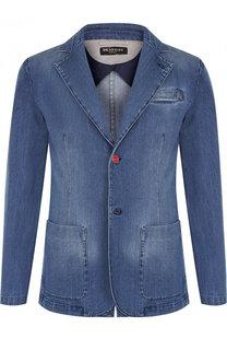 Однобортный джинсовый пиджак Kiton