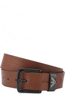 Кожаный ремень с металлической пряжкой Emporio Armani
