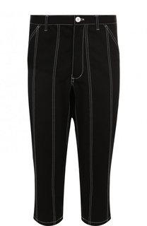 Хлопковые укороченные брюки с заниженной линией шага Comme des Garcons
