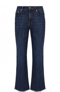Укороченные расклешенные джинсы с лампасами MSGM