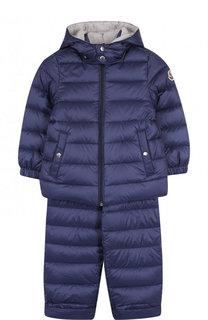 Пуховый комплект из куртки и комбинезона Moncler Enfant
