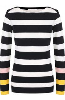 Шерстяной пуловер с вырезом-лодочка BOSS
