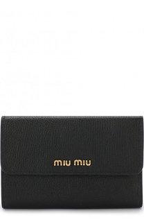 Кожаный кошелек с клапаном Miu Miu