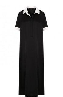 Платье-рубашка свободного кроя с коротким рукавом Tegin