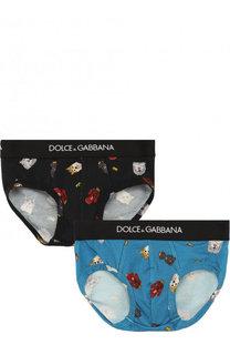 Хлопковый комплект из двух трусов Dolce & Gabbana