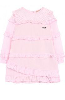 Хлопковое платье свободного кроя с оборками No. 21