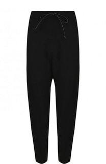 Укороченные однотонные брюки из вискозы Isabel Benenato
