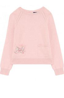 Хлопковый пуловер с карманами и бантами Ralph Lauren