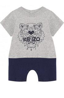 Хлопковый песочник с вышивкой Kenzo