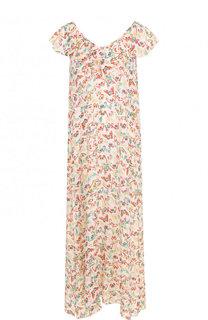 Шелковое платье-миди с ярким принтом Zadig&Voltaire Zadig&Voltaire
