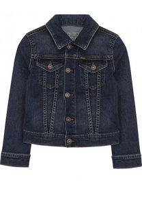 Джинсовая куртка с декоративными потертостями Ralph Lauren