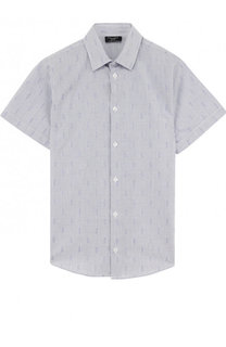 Хлопковая рубашка прямого кроя с короткими рукавами Dal Lago