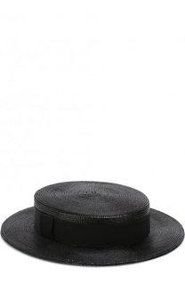 Шляпа из смеси вискозы и хлопка с лентой Saint Laurent
