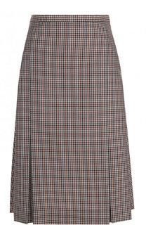 Шерстяная юбка-миди в клетку Maison Margiela