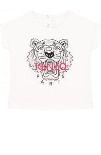 Хлопковая футболка с вышивкой Kenzo