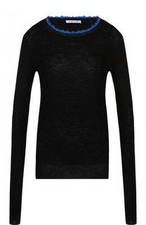 Кашемировый пуловер с круглым вырезом Helmut Lang