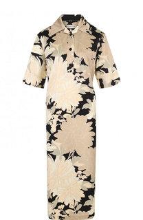 Платье-рубашка с принтом и коротким рукавом Dries Van Noten