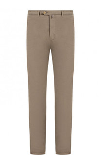 Хлопковые брюки прямого кроя Kiton