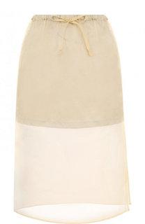 Полупрозрачная шелковая юбка-миди Dries Van Noten