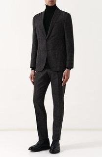 Костюм из смеси шерсти и льна с пиджаком на двух пуговицах Windsor