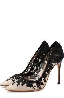 Текстильные туфли Giada на шпильке Gianvito Rossi