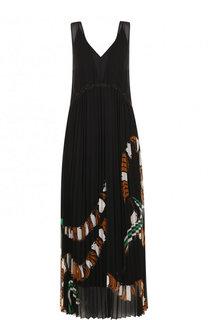 Приталенное платье-миди с плиссированной юбкой с принтом By Malene Birger
