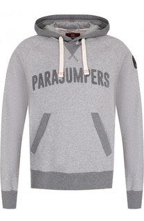 Хлопковое худи с логотипом бренда Parajumpers