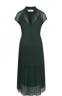 Приталенное однотонное платье-миди By Malene Birger