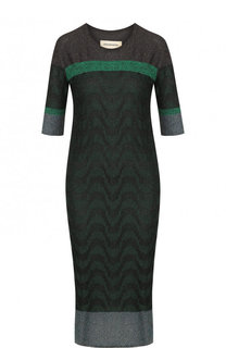 Приталенное платье-миди с коротким рукавом By Malene Birger