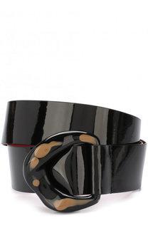 Лакированный ремень с фигурной пряжкой By Malene Birger