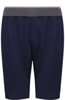 Хлопковые шорты с поясом на резинке Ermenegildo Zegna