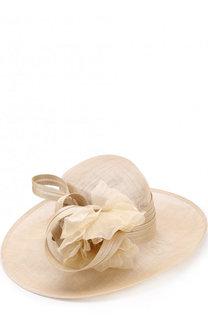 Соломенная шляпа с декором в виде цветка Philip Treacy