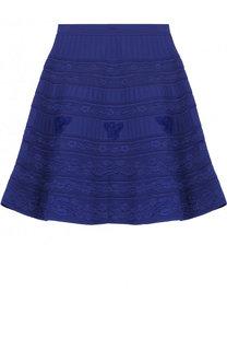 Однотонная вязаная мини-юбка Roberto Cavalli