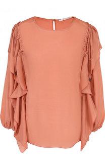 Однотонная блуза из смеси вискозы и шелка See by Chloé