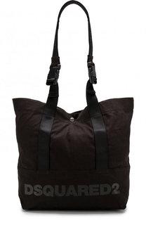 Текстильная сумка-тоут с дополнительным плечевым ремнем Dsquared2
