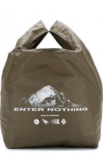 Текстильная сумка-шоппер с принтом Lanvin