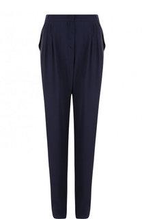 Однотонные брюки прямого кроя из вискозы Giorgio Armani