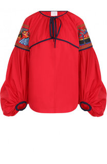 Хлопковая блуза с объемными рукавами Stella Jean