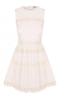 Хлопковое приталенное мини-платье REDVALENTINO