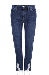 Укороченные джинсы прямого кроя с потертостями MiH Jeans