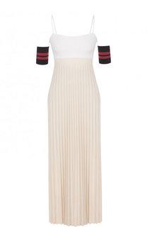 Платье-миди с завышенной талией и плиссированной юбкой MRZ