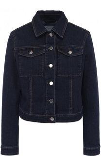 Джинсовая куртка прямого кроя с отложным воротником BOSS