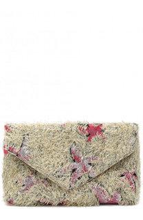 Клатч с отделкой из текстиля Dries Van Noten