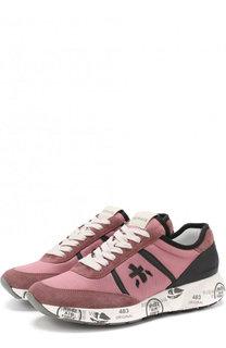 Текстильные кроссовки Hanzo на шнуровке Premiata