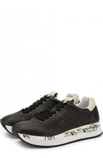 Кожаные кроссовки Conny на шнуровке Premiata