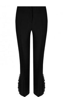Укороченные однотонные брюки с оборками No. 21